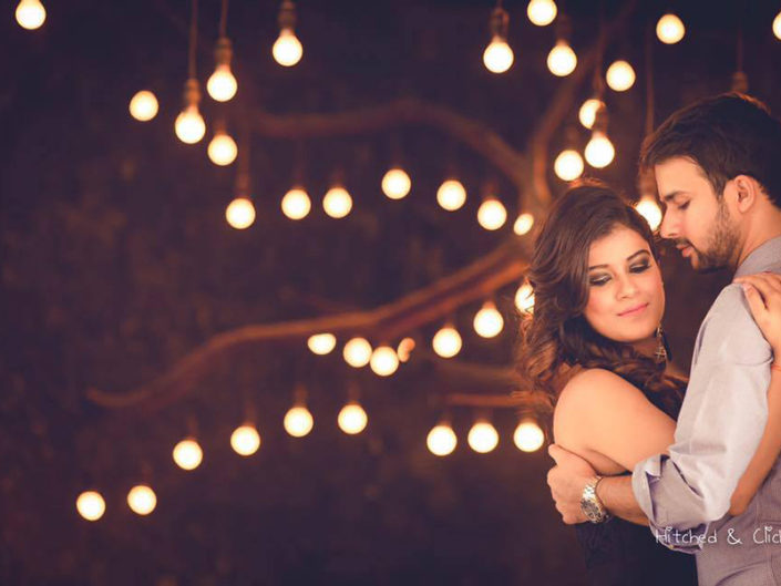 Tree Lights Backdrops Pre Wedding shoot