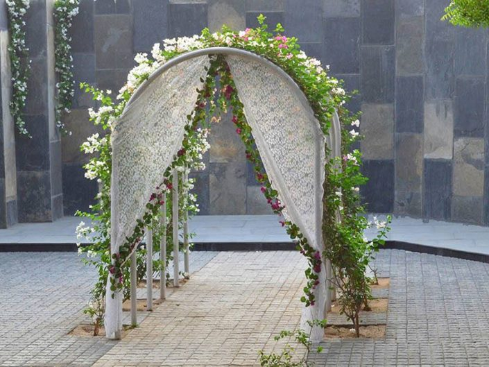 White Floral Arches